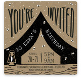 Night Of Camping Children's Birthday Party Invitations