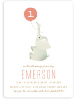 Ollie Elephant Children's Birthday Party Invitations