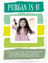 Paint The Town Children's Birthday Party Invitations