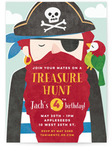 Pirate Booty Children's Birthday Party Invitations