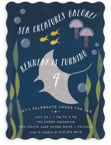 Sea Life Children's Birthday Party Invitations