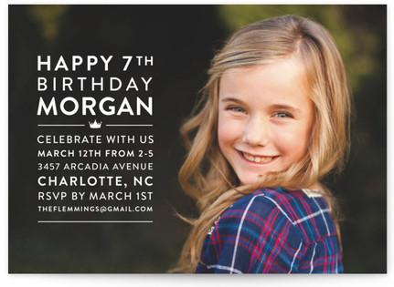 Modern Block Children's Birthday Party Invitations