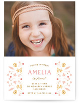 Floral Frame Fancy Kids Party Invitations