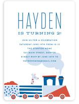 Locomotive Children's Birthday Party Invitations