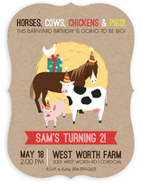 Barnyard Birthday Children's Birthday Party Invitations