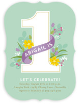 In the Garden Children's Birthday Party Invitations