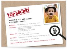 Secret Agent Children's Birthday Party Invitations