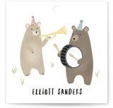 bears marching band Children's Birthday Party Favor Tags