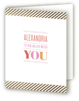 The Big One Foil-Pressed Children's Birthday Party Thank You Cards