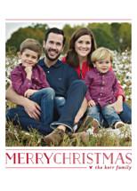 Love Peace Cheer Christmas Photo Cards