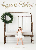 Pure Happy Christmas Photo Cards