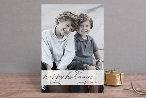 Frosted Christmas Christmas Photo Cards
