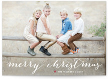 Sparkling Border Christmas Photo Cards