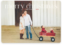 Timeless Greeting Christmas Photo Cards