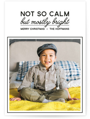 Not So Calm Christmas Photo Cards