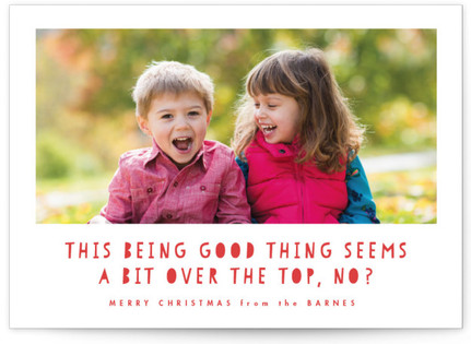 Over The Top Christmas Photo Cards