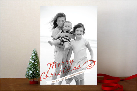 A Merry Banner Christmas Photo Cards