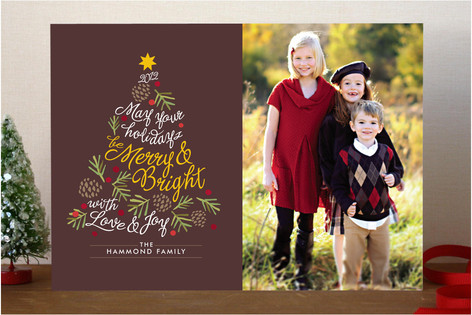 Be Merry and Bright Christmas Photo Cards