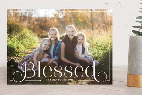 Simply Blessed Christmas Photo Cards