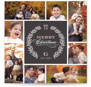 Pine Wreath Christmas Photo Cards
