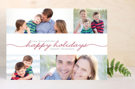 Merrily Handwritten Christmas Photo Cards