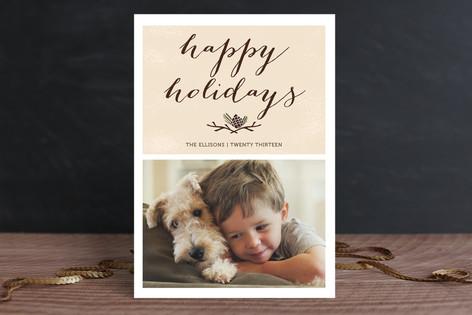 Christmas Pinecone Christmas Photo Cards