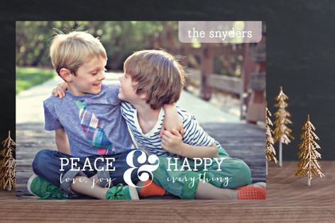 Merry and Happy Christmas Photo Cards