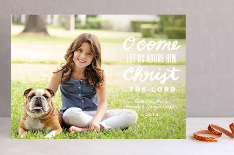 Let Us Adore Christmas Photo Cards