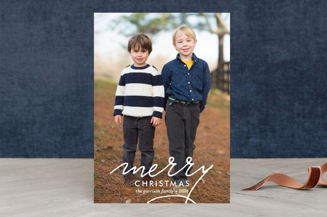 Merry Swoosh Christmas Photo Cards