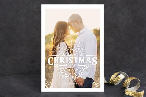 White Christmas Christmas Photo Cards