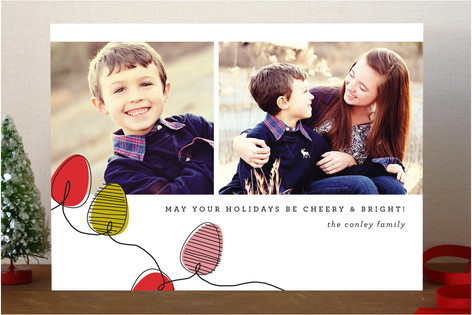 String O'Lights Christmas Photo Cards