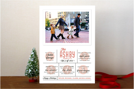 The Top Five Christmas Photo Cards