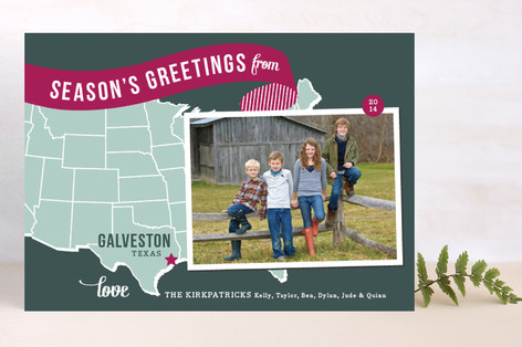 Holiday Map - Midwest Christmas Photo Cards