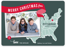 Holiday Map - East Coast Christmas Photo Cards