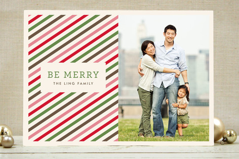 Twisted Peppermint Christmas Photo Cards