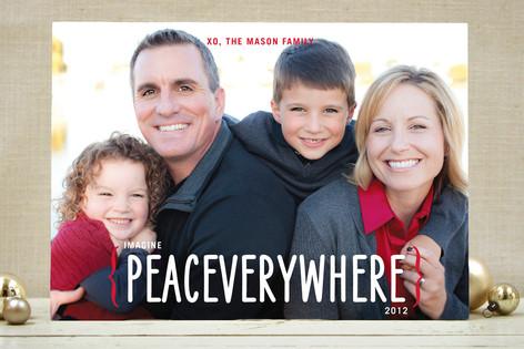 Peace Everywhere Christmas Photo Cards