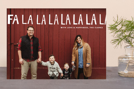 Hand-Lettered Fa La La La La Christmas Photo Cards