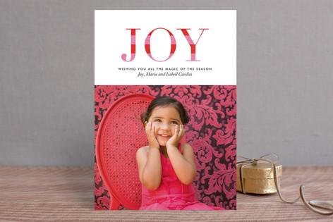 Striped Joy Christmas Photo Cards