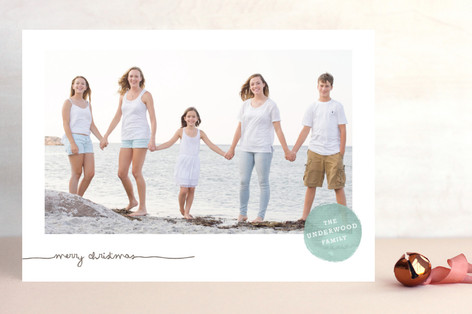Frosted Watercolor Christmas Photo Cards