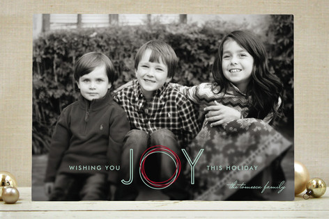 Holiday Joy Christmas Photo Cards