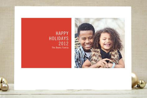 Modern Geometric Christmas Photo Cards