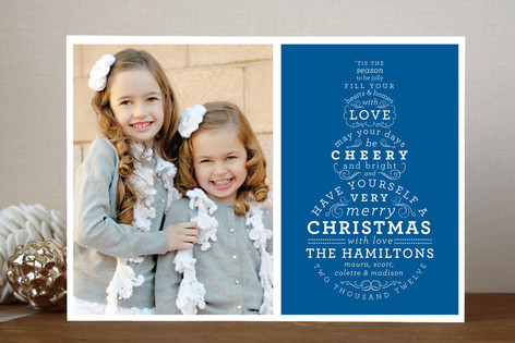 Snowman Type Christmas Photo Cards