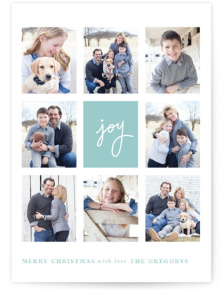 Joie Grid Christmas Photo Cards