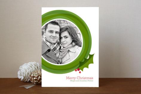Modern Wreath Christmas Photo Cards