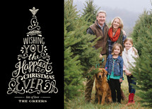 Happiest Ever Christmas Photo Cards
