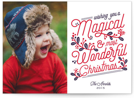Magical And Wonderful Christmas Photo Cards