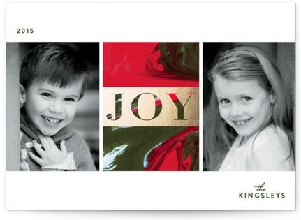 Marbled Joy Christmas Photo Cards