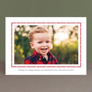 Simple Border Christmas Photo Cards