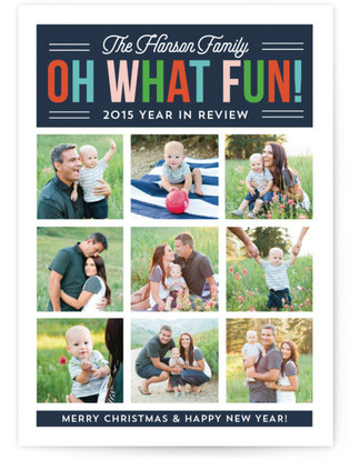 Oh What Fun Year in Review Christmas Photo Cards