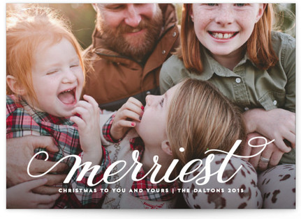 Sweet Merriest Christmas Photo Cards